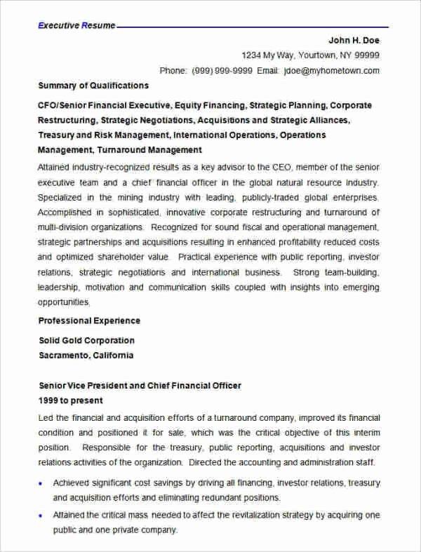 Finance Resume Template Word Lovely 47 Best Resume formats Pdf Doc