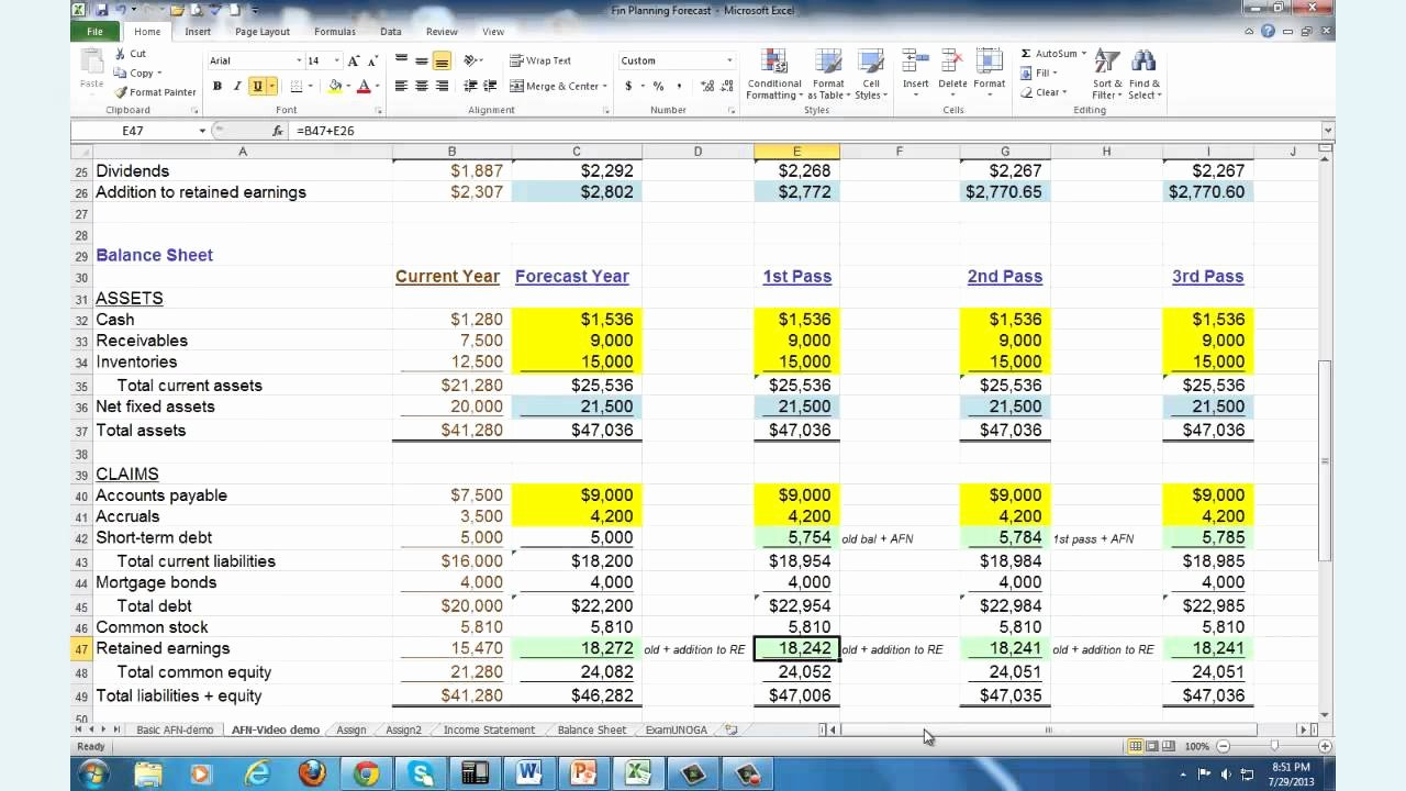 Financial Plan Template Excel Awesome Financial Planning & forecasting Spreadsheet Modeling