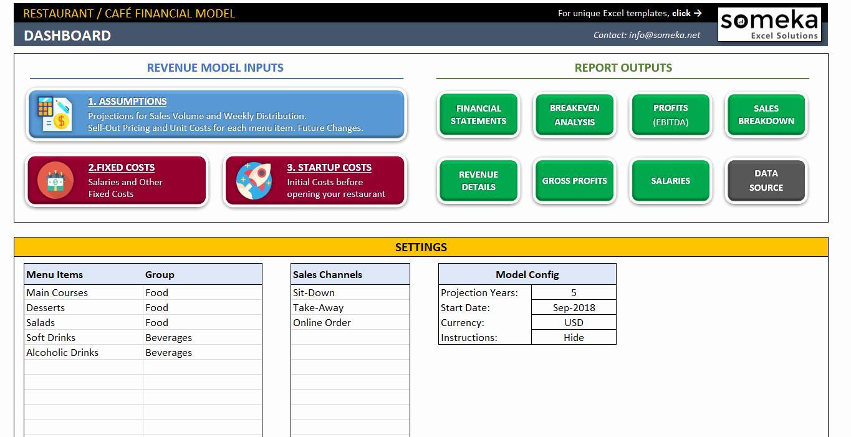 Financial Plan Template Excel Inspirational Restaurant Financial Plan Template In Excel Business Plan