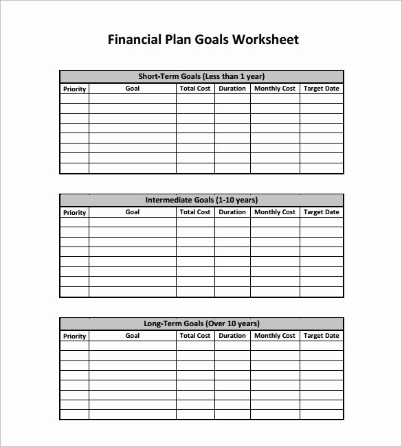 Financial Plan Template Excel Lovely Financial Plan Template 15 Word Excel Pdf Documents