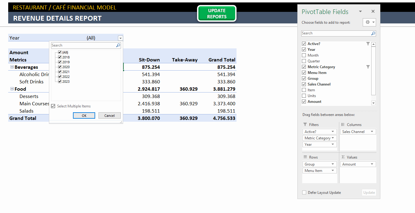 Financial Plan Template Excel New Restaurant Financial Plan Template In Excel Business Plan