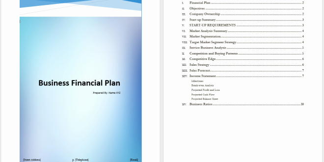 Financial Plan Template Word Fresh Business Financial Plan Template – Word Templates for Free