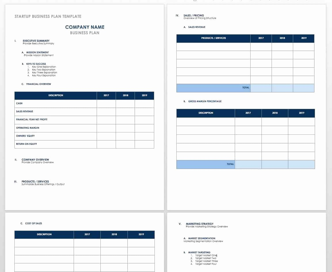 Financial Plan Template Word Inspirational Free Startup Plan Bud & Cost Templates