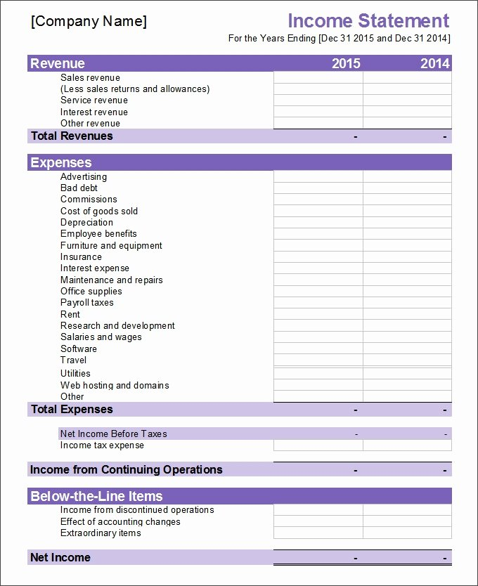 Financial Statement Template Word Fresh 30 Financial Statement Templates Pdf Doc