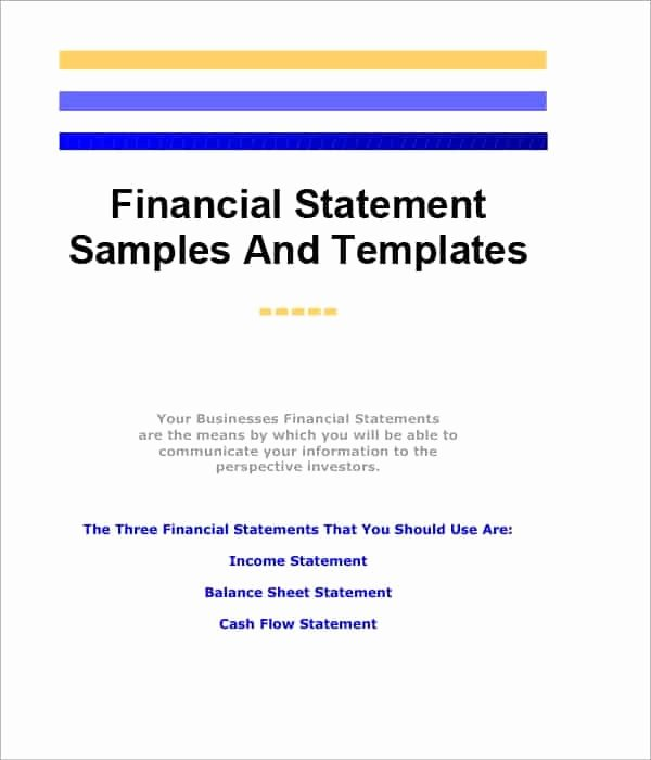 Financial Statement Template Word Inspirational 8 Free Financial Statement Templates Word Excel Sheet Pdf