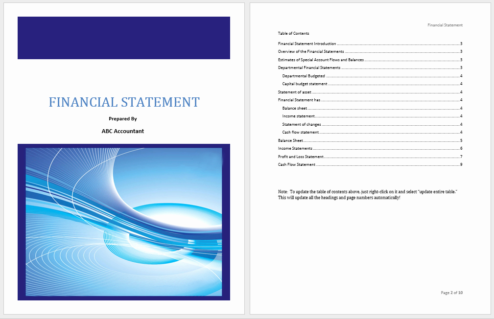 Financial Statement Template Word New Financial Statement Template Microsoft Word Templates