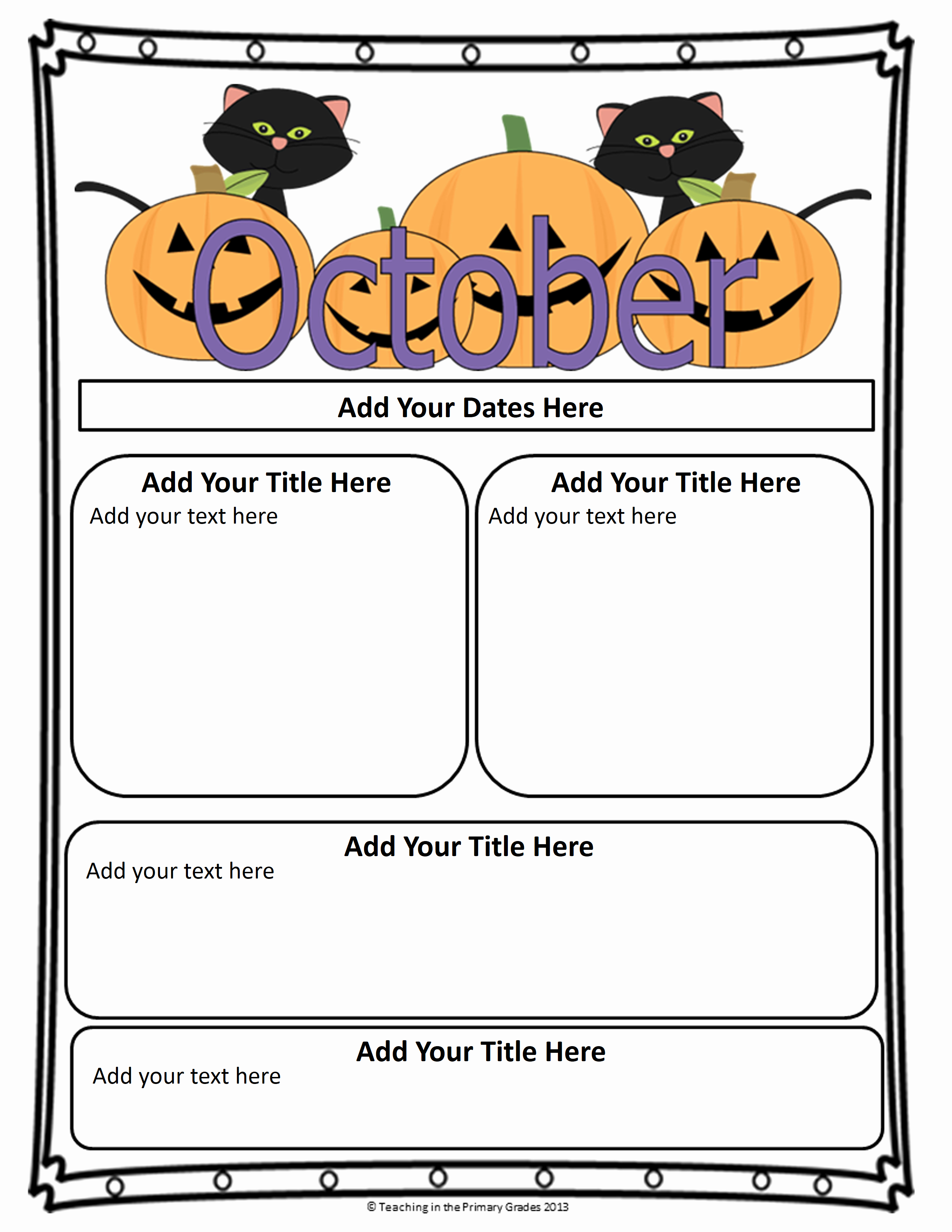 First Grade Newsletter Template Awesome Classroom Newsletter Templates
