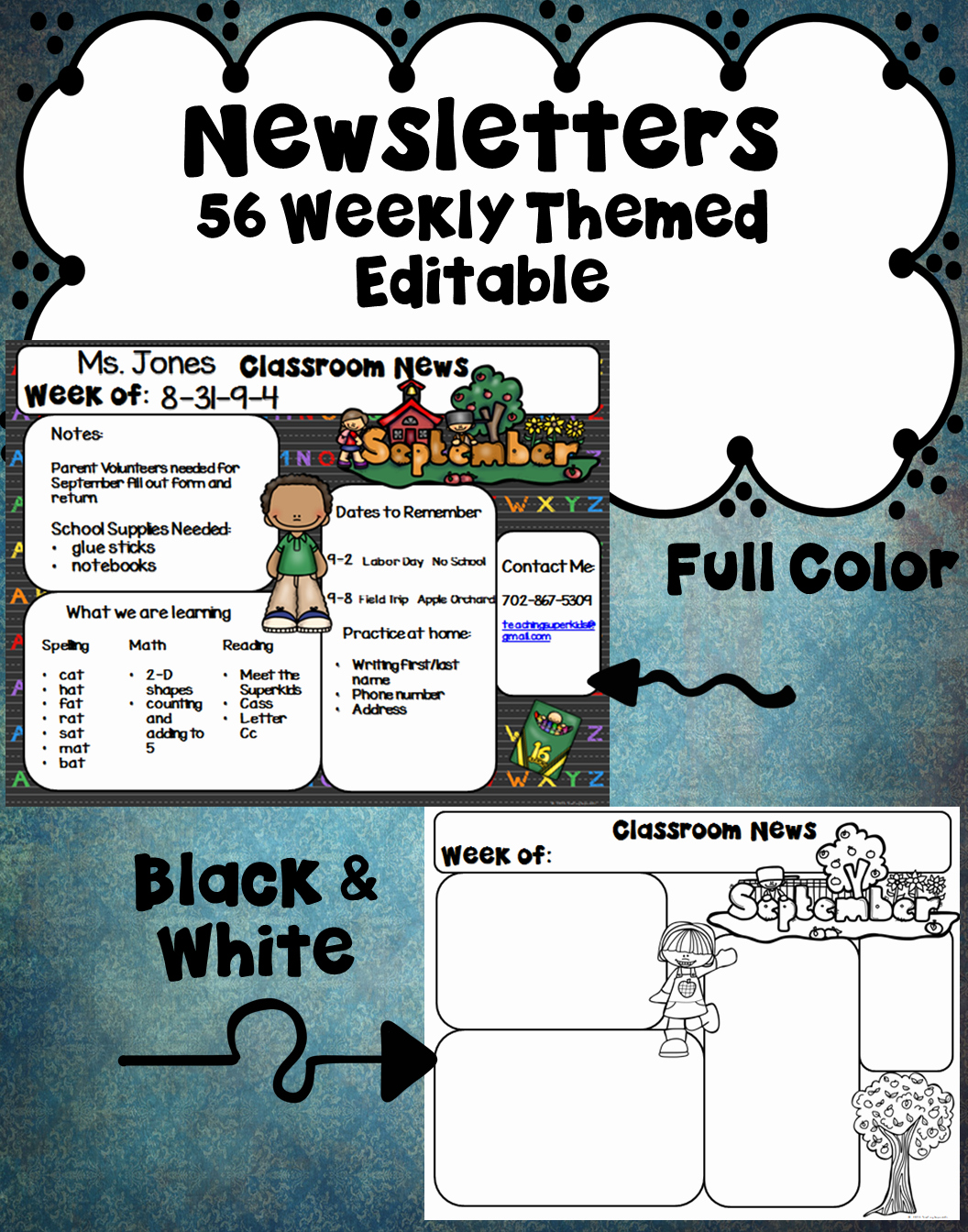 First Grade Newsletter Template Awesome Editable Newsletters Templates