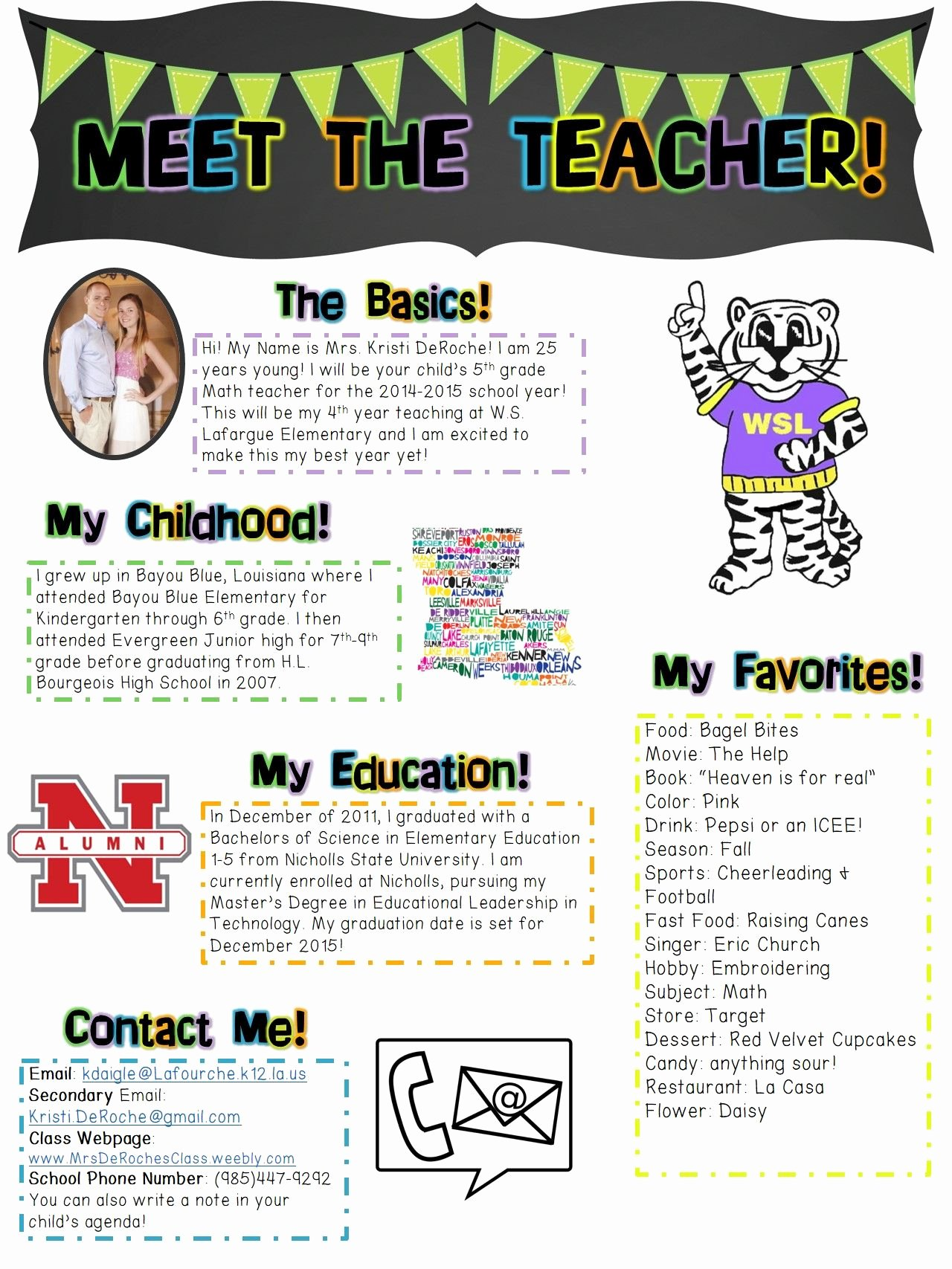 First Grade Newsletter Template Best Of Meet the Teacher Newsletter Editable