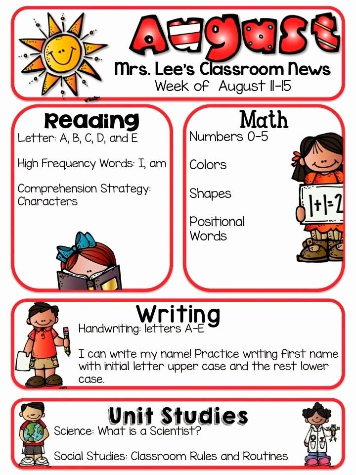 First Grade Newsletter Template Best Of Pin by Kristy Eanes On Back to School Poems Name