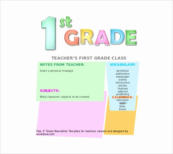 First Grade Newsletter Template Fresh 8 Free Newsletter Templates Free Word Pdf Documents