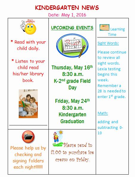 First Grade Newsletter Template Lovely Editable Kindergarten Newsletter Template