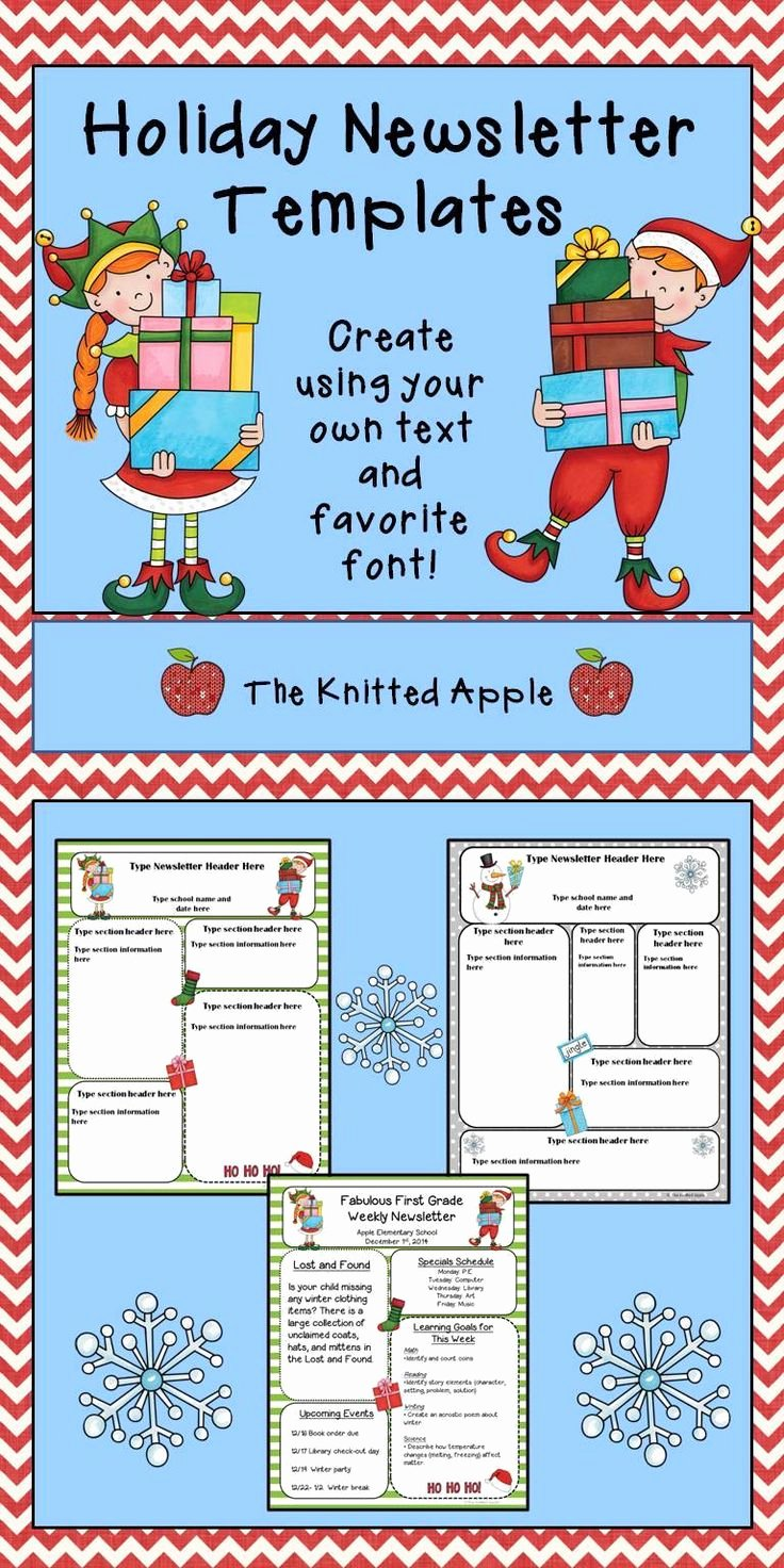 First Grade Newsletter Template Lovely Free Editable Newsletter Templates In A Holiday theme