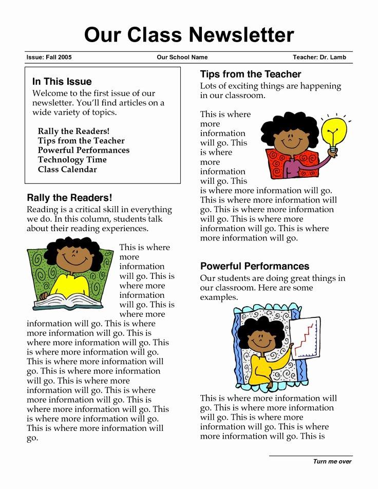 First Grade Newsletter Template Lovely Newsletter Templates for Teachers