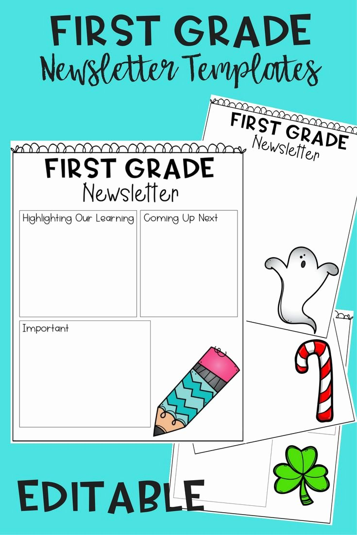 First Grade Newsletter Template Unique Best Best Of First Grade Images On Pinterest
