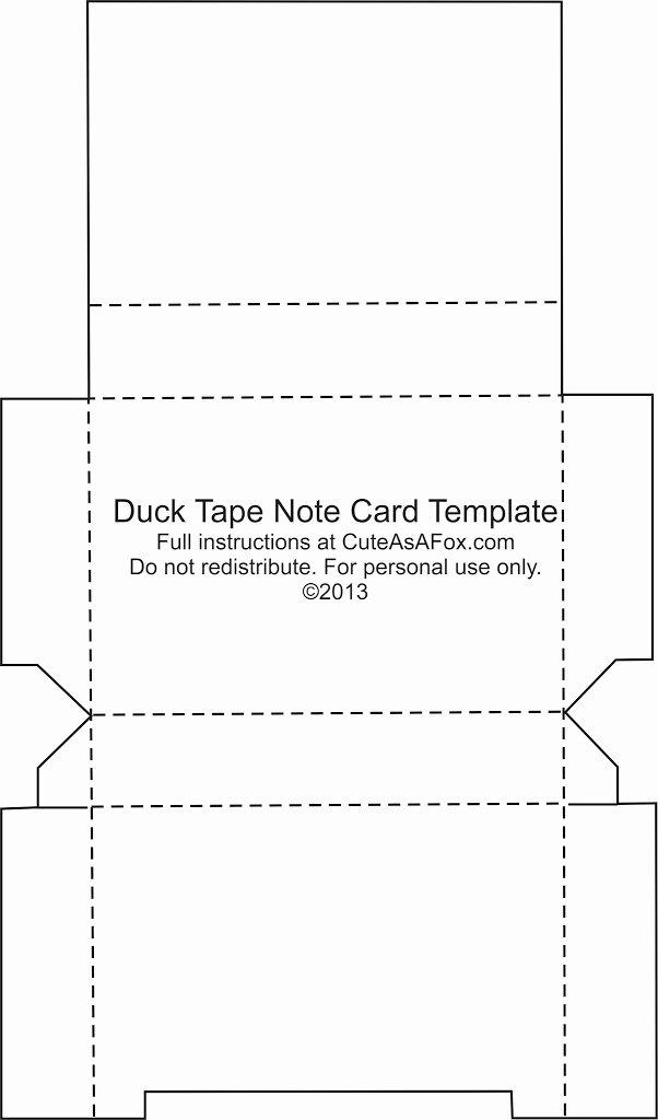 Flash Card Template Pdf Inspirational Duck Tape Flash Card Holder