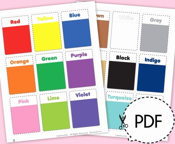 Flash Card Template Pdf Lovely Color and Shape Flash Cards Printable Pdf Download