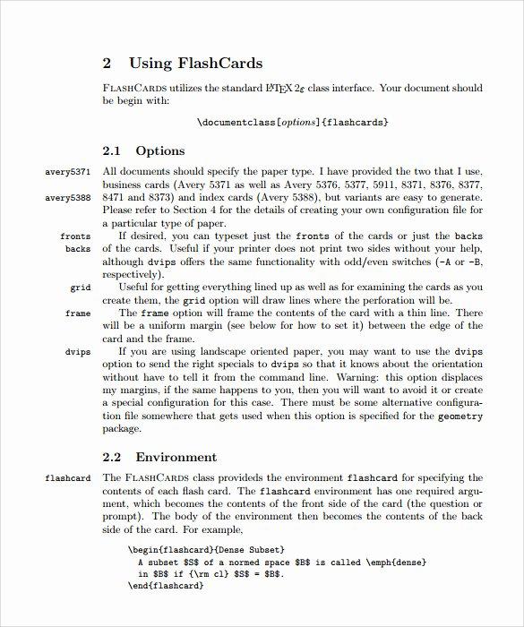 Flash Card Template Pdf Unique Sample Flash Card 11 Documents In Pdf
