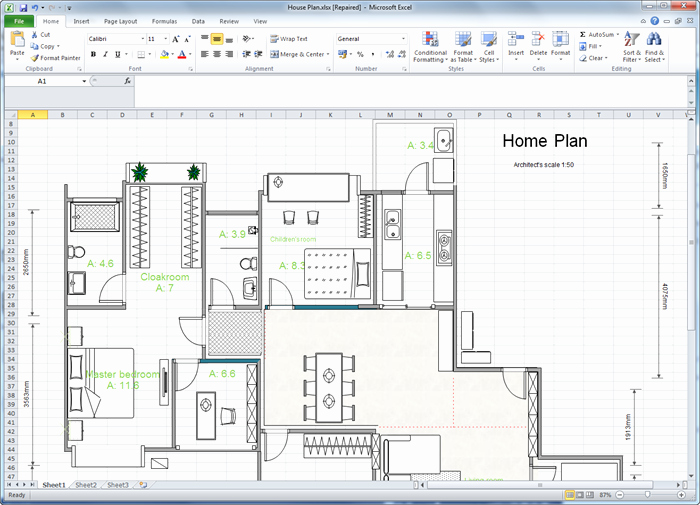 Floor Plan Templates Word Inspirational Create Floor Plan for Excel
