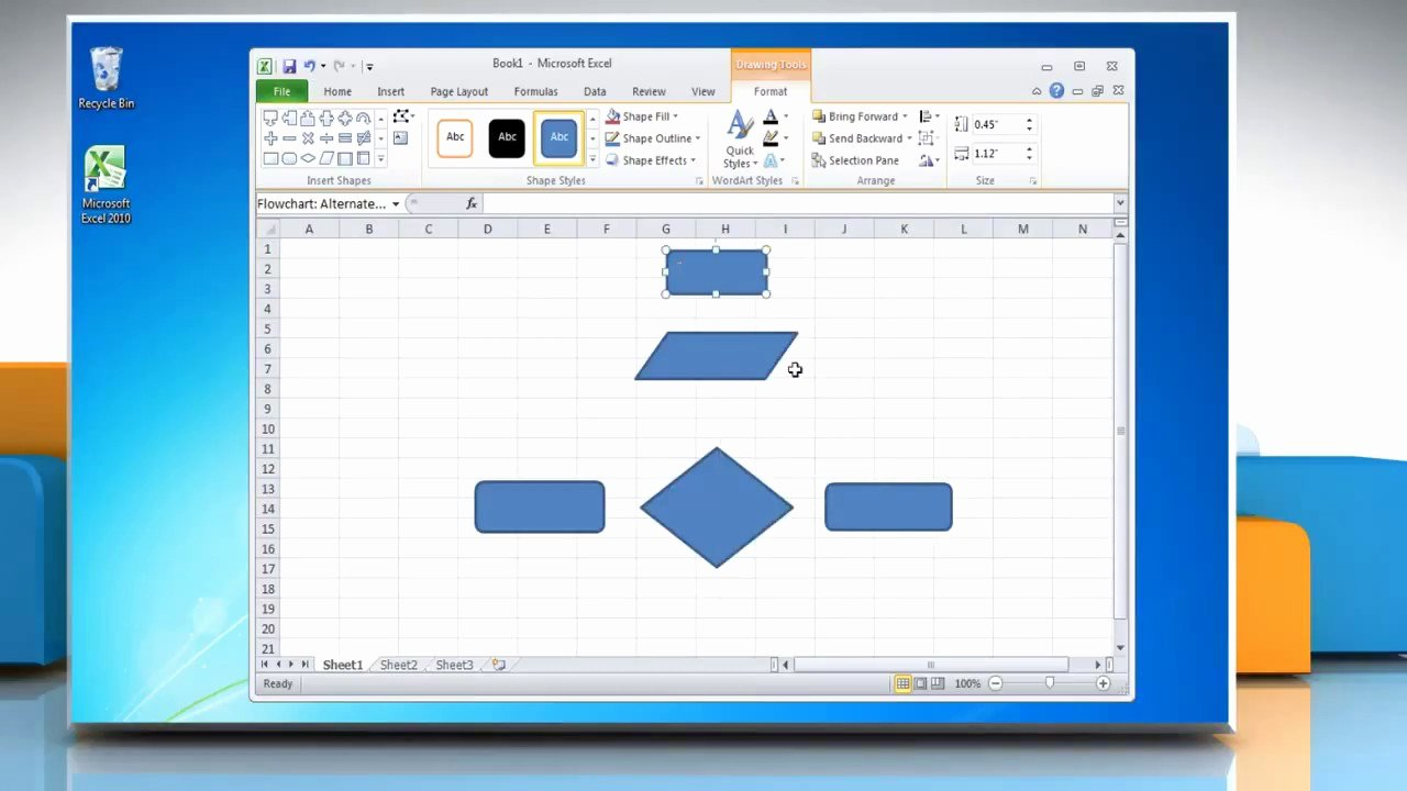 Flow Chart Excel Template Lovely How to Make A Flow Chart In Excel 2010