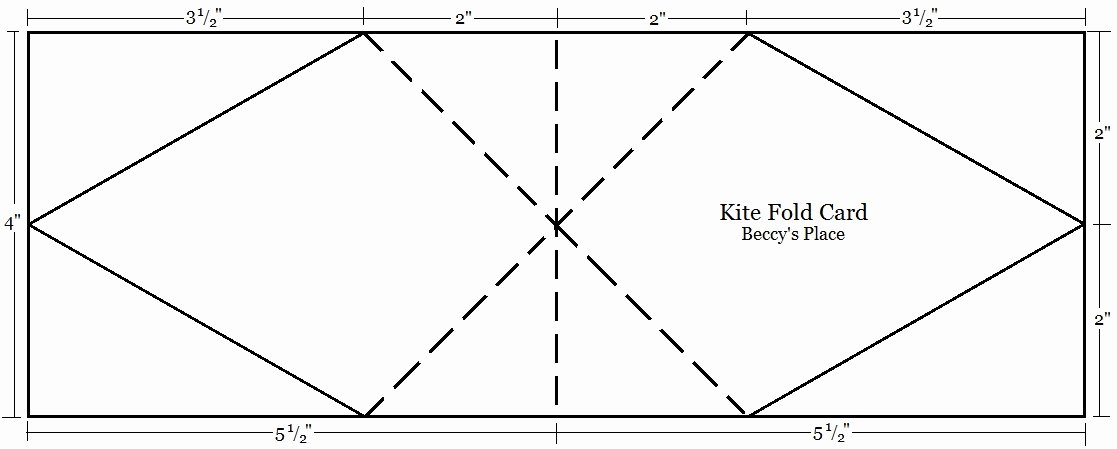 Fold Over Place Card Templates Best Of Beccy S Place Tutorial Kite Fold Card