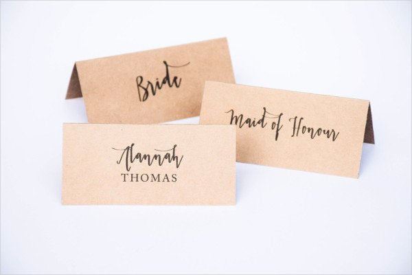 Fold Over Place Card Templates Inspirational Wedding Card Examples
