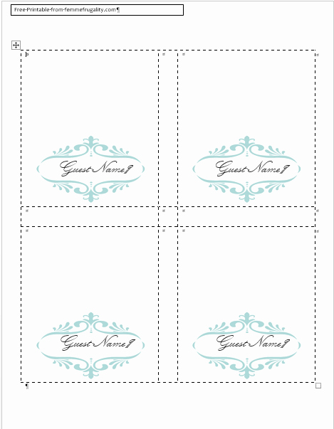 Fold Over Place Card Templates Unique How to Make Your Own Place Cards for Free with Word and