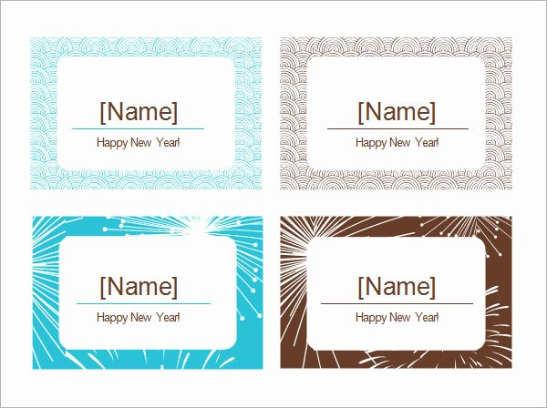 Fold Over Place Cards Template Fresh Free 6 Place Card Templates In Word