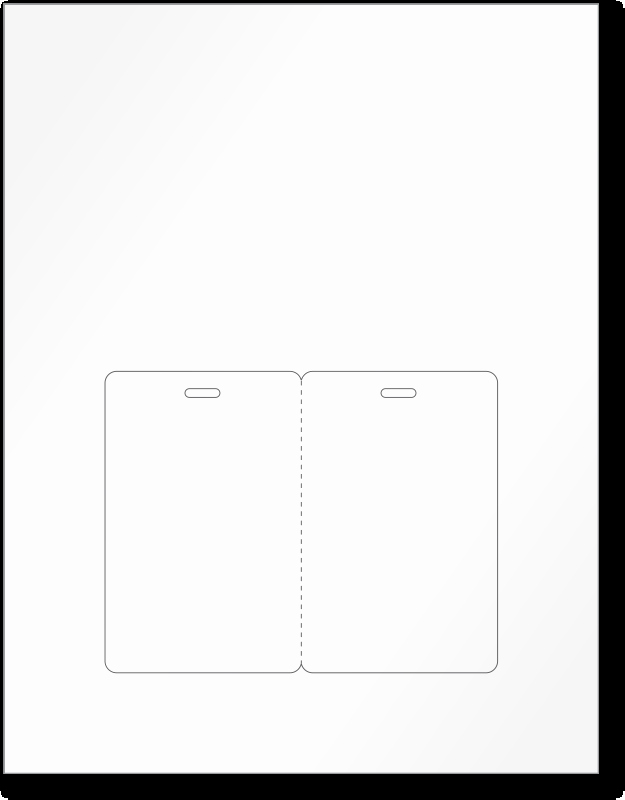 Fold Over Place Cards Template New Blank Fold Over Id Cards Stationery Printable Sheets