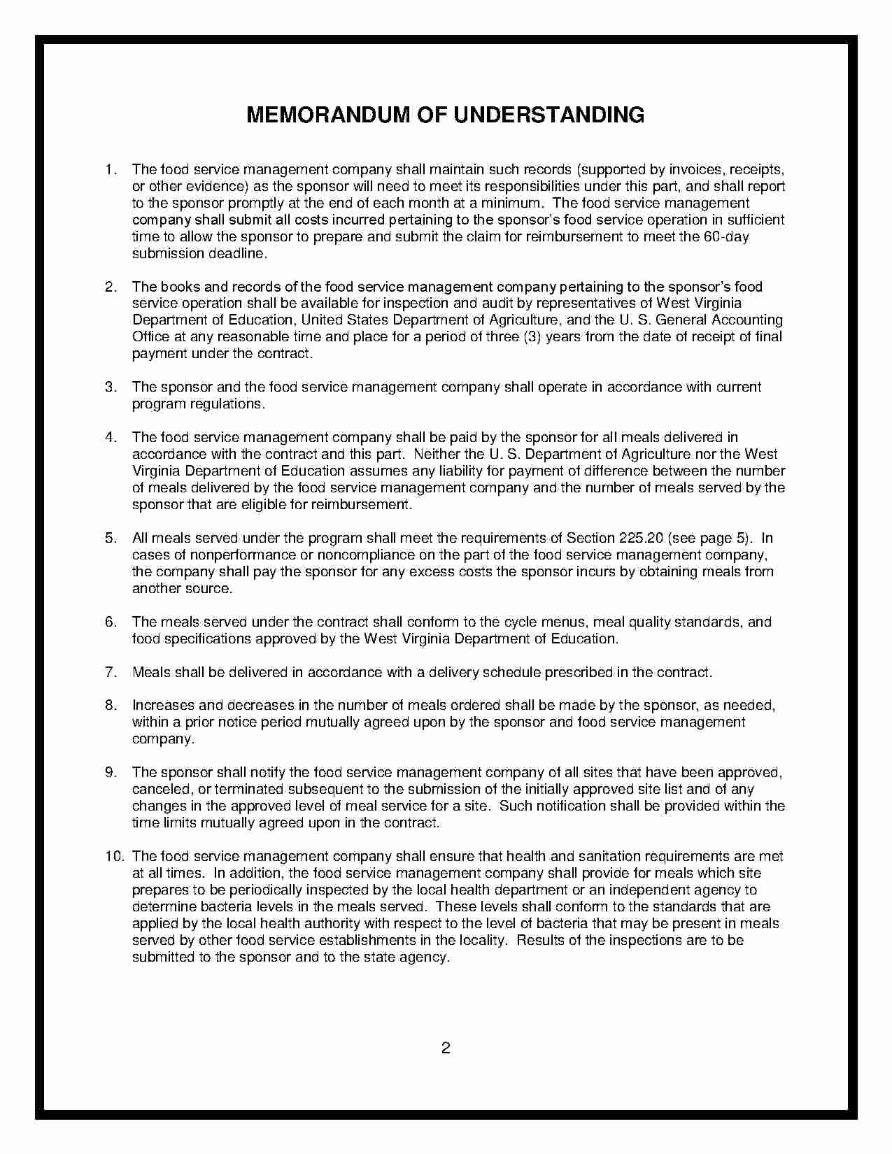 Food Service Contract Template Awesome Download Food Service Contract Style 10 Template for Free
