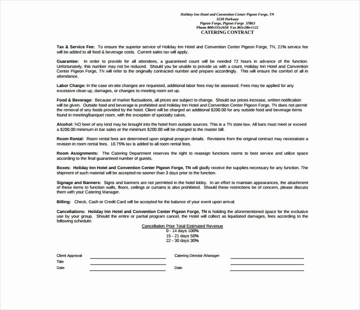 Food Service Contract Template Best Of 15 Food Service Contract Templates for A Restaurant Cafe
