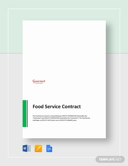 Food Service Contract Template Best Of 247 Free Contract Templates In Google Docs