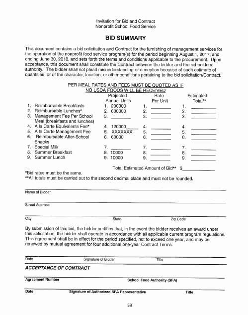 Food Service Contract Template Fresh 29 Useful Summary Templates Pdf