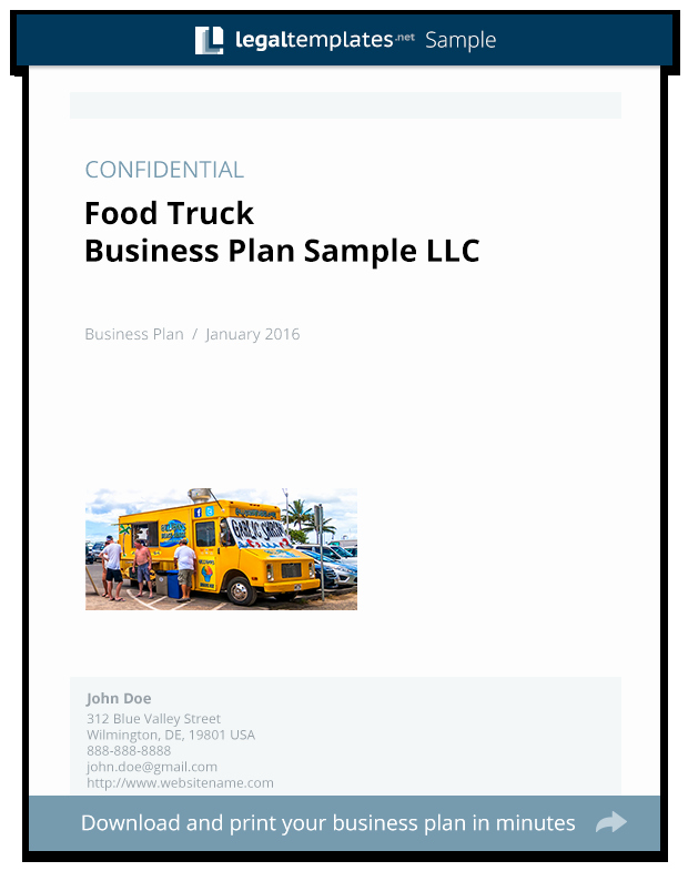 Food Truck Business Plan Template Best Of Food Truck Business Plan Sample