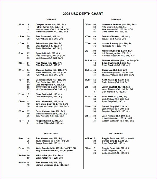 Football Depth Chart Template Excel Beautiful 10 Football Depth Chart Template Excel Exceltemplates