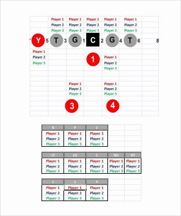 Football Depth Chart Template Excel Best Of 13 Football Depth Chart Template Free Sample Example