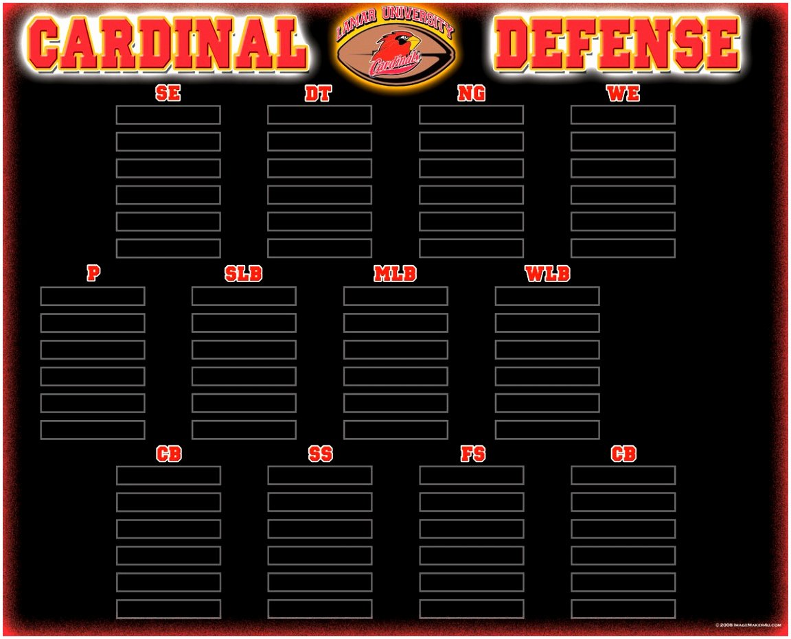 Football Depth Chart Template Excel Best Of 5 Printable Football Depth Chart Template Yaouu
