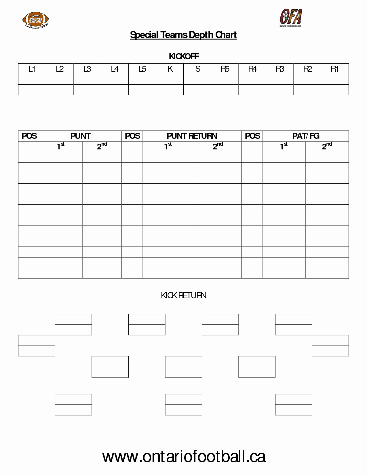Football Depth Chart Template Excel Luxury Download Printable Baseball Depth Chart Template