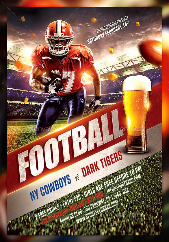 Football Flyer Templates Free Beautiful 28 Football Flyer Templates Psd Eps Ai Indesign