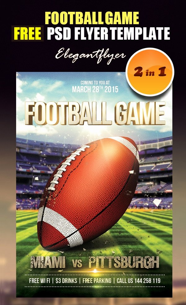 Football Flyer Templates Free Best Of Free Flyer Templates Psd From 2014 Css Author