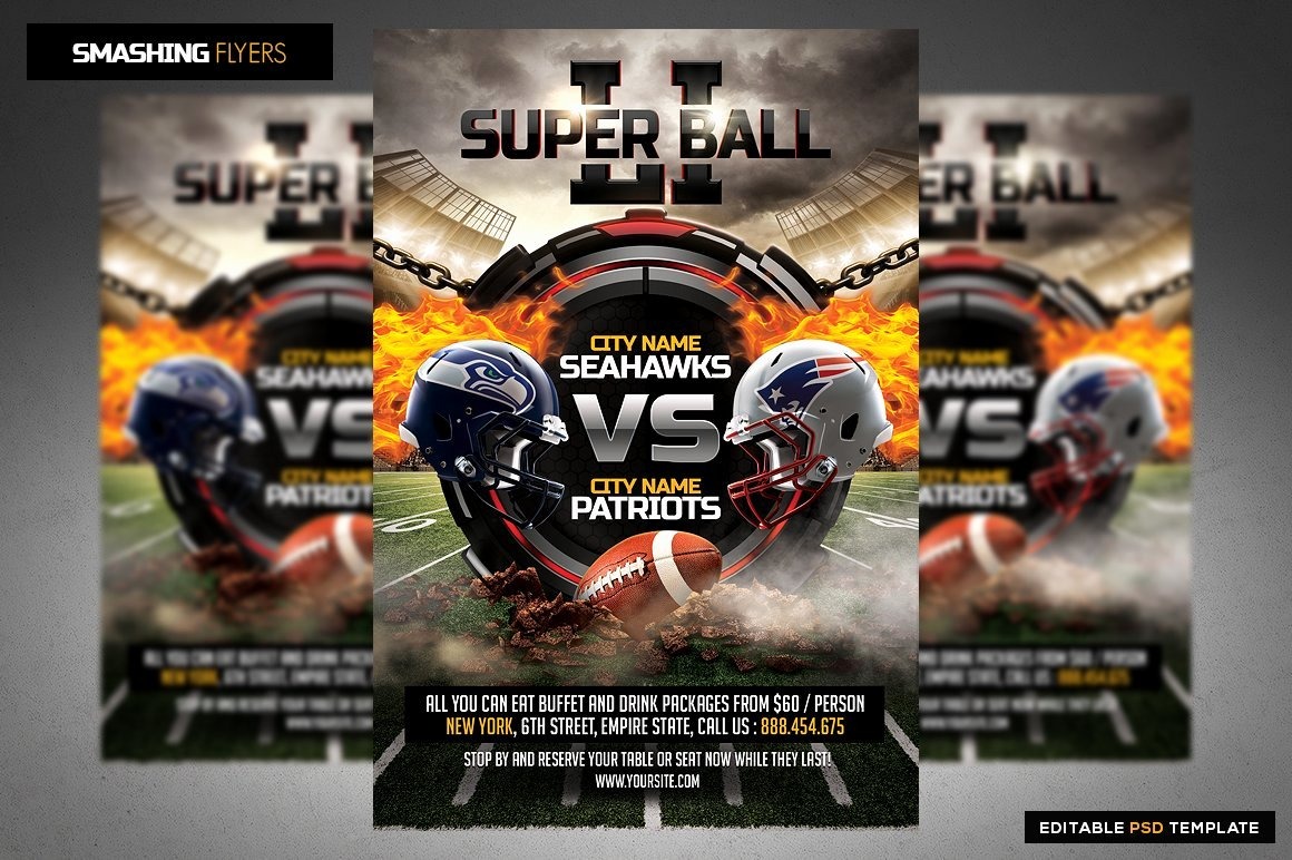 Football Flyer Templates Free Elegant American Football Flyer Template Flyer Templates
