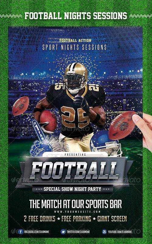 Football Flyer Templates Free Elegant top 10 American Football Psd Flyer Templates
