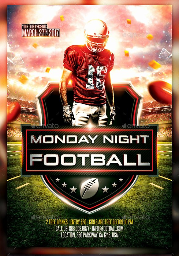 Football Flyer Templates Free Fresh 28 Football Flyer Templates Psd Eps Ai Indesign