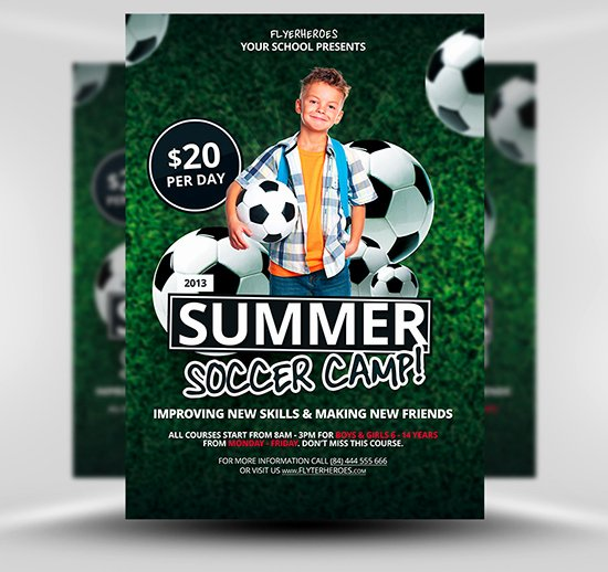 Football Flyer Templates Free Fresh Free Summer soccer Camp Flyer Template Flyerheroes