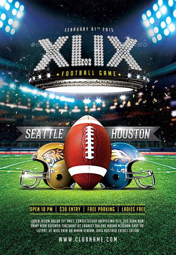 Football Flyer Templates Free Lovely 25 Best Sport Psd Flyer Templates Print