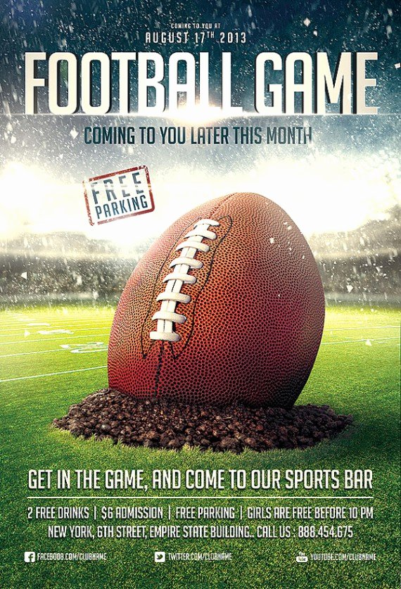 Football Flyer Templates Free New Get Active Collection Of Sports Flyer Templates