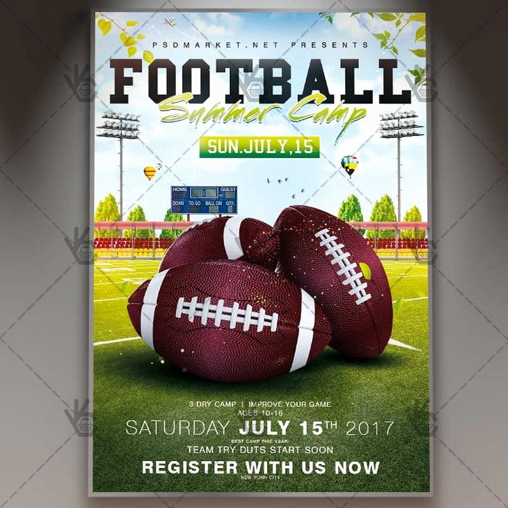Football Flyer Templates Free Unique 9 Best Flyer Templates Images On Pinterest