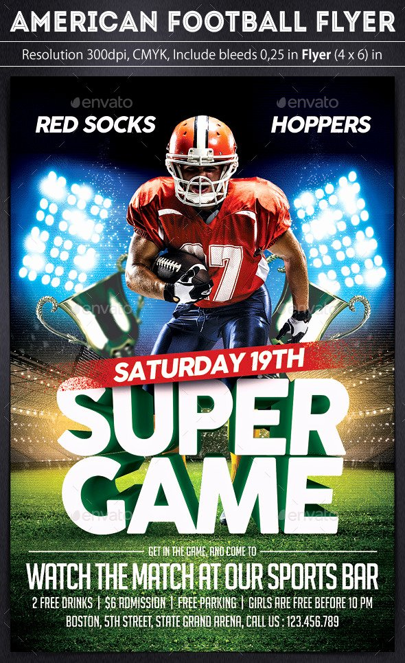 Football Flyer Templates Free Unique American Football Flyer by Grapulo