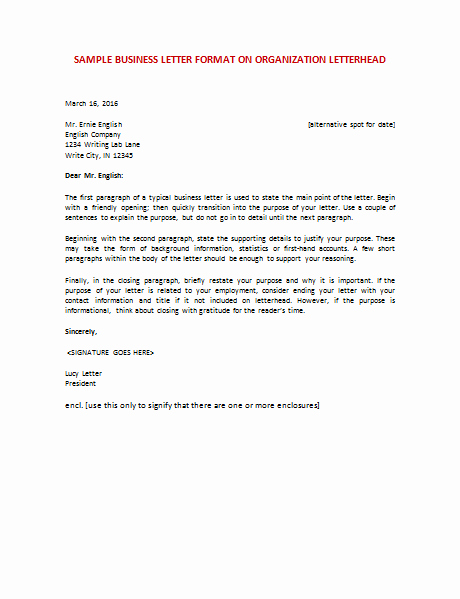 Formal Business Letter Template Best Of 60 Business Letter Samples & Templates to format A