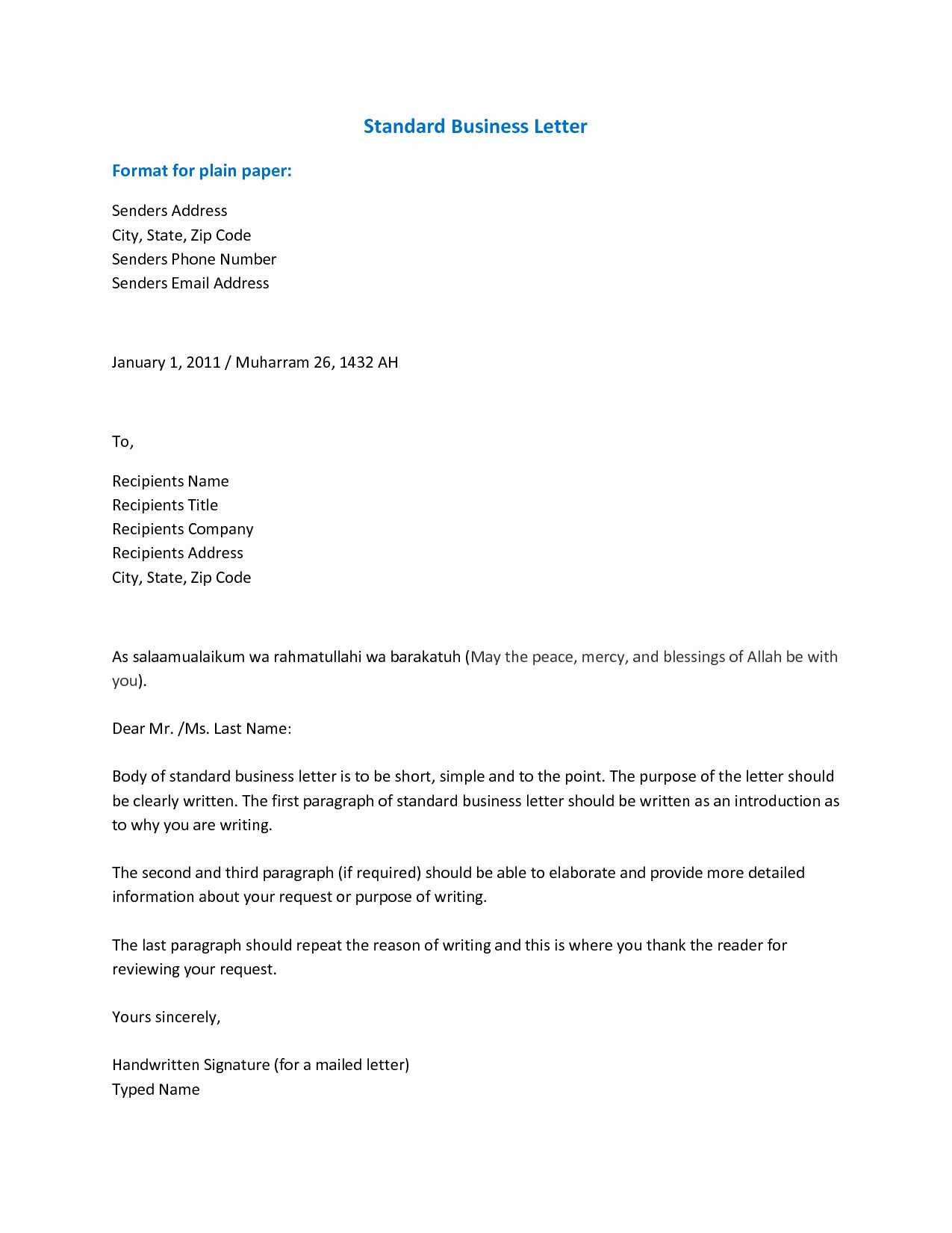 Formal Business Letter Template Elegant Importance Knowing the Business Letter format